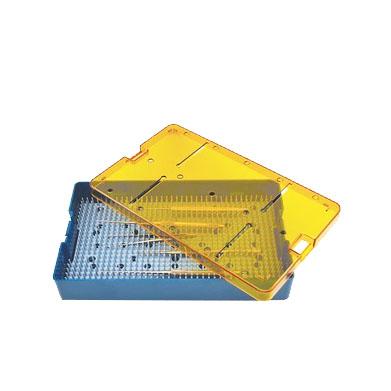 medical sterilization instrument tray stz1038d1 - 10 x 6 x 1p5