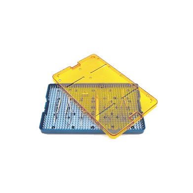 medical sterilization instrument tray stz1038s - 10 x 6 x p75